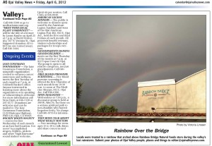 Rainbow over Rainbow Bridge - Victoria Linssen