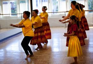 Hawaiians Perform for the Indigenous People's Gathering with the Maidu First Nation