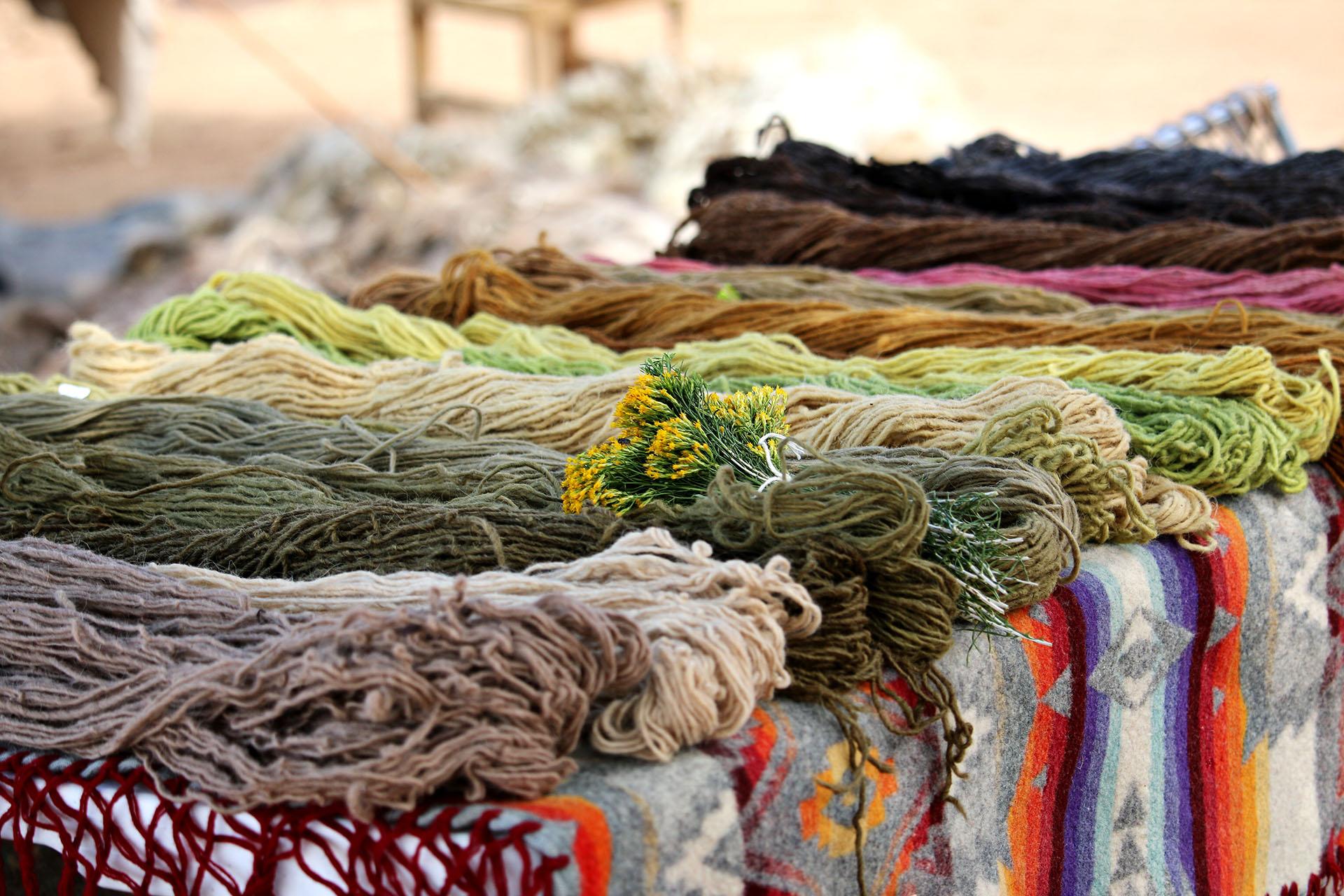 Sustainable wool skeins handmade by Navajo Native Women