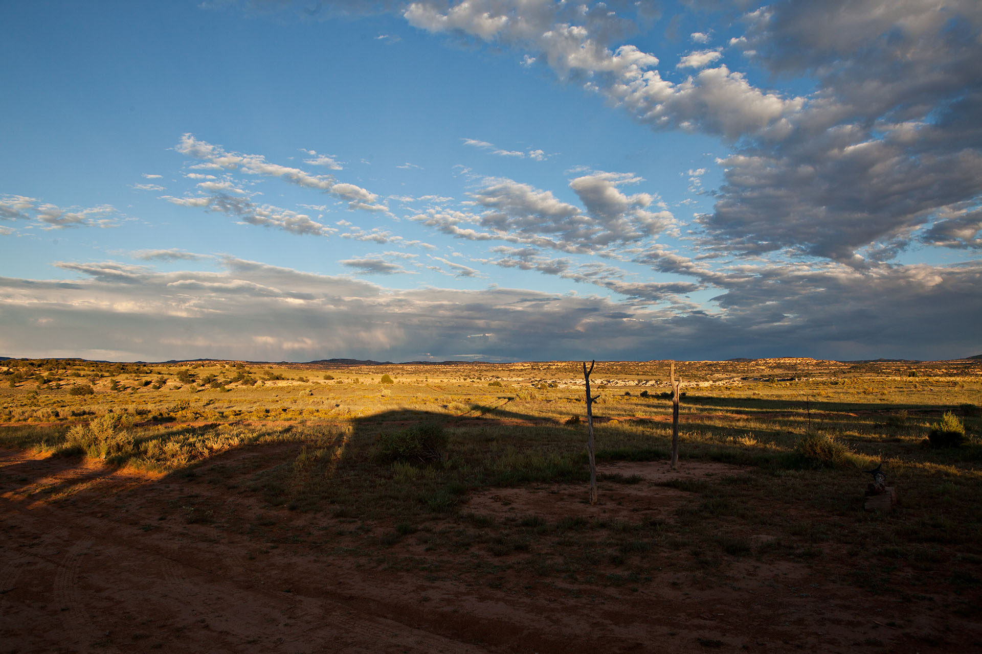 The wide open spaces of Black Mesa Arizona on the Navajo Reservation
