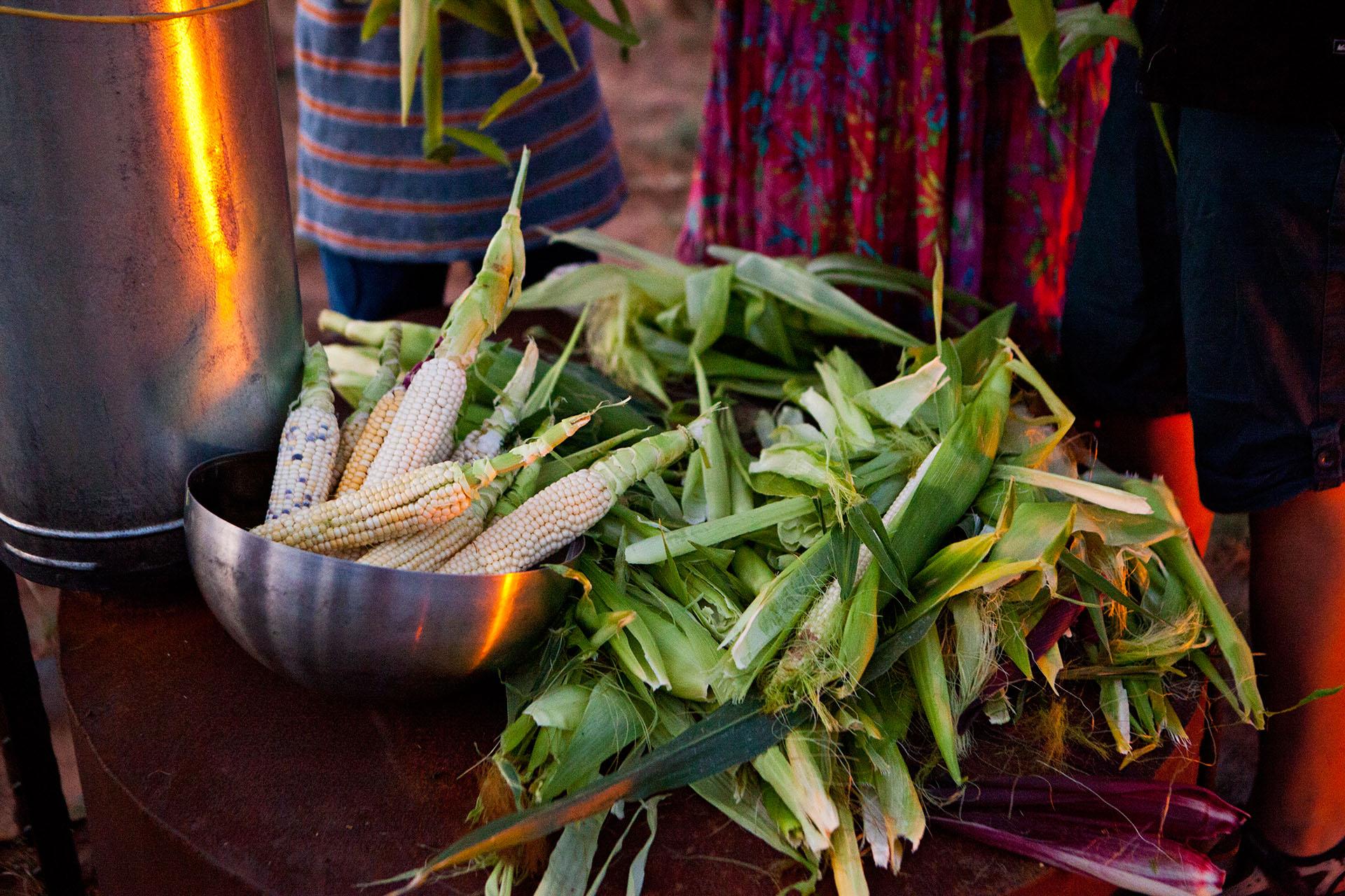 Native American corn prepared by indigenous people
