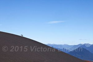 Racing up Volcan Osorno