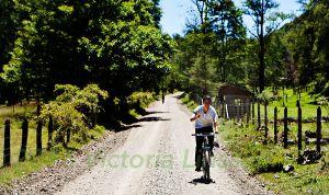 Mapuche Boy on Bike