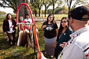 Ojibwe First Nation people walk to DC