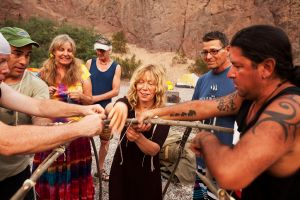 Native American takes group on spiritual adventure of a lifetime.